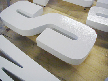 computer cut sign letters