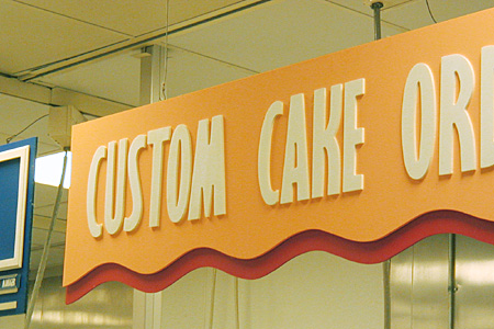 Sintra Cut Panels With PVC Routed Individual letters