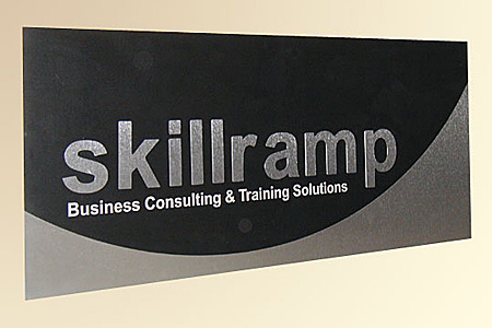 Skillramp Brushed Aluminum and PVC Lobby Display