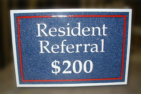 HDu Resident Referral Sign