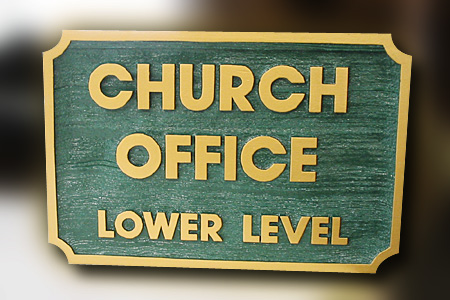 Church Office Wood Sign