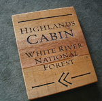 White river National Forest Natural Wood Sign