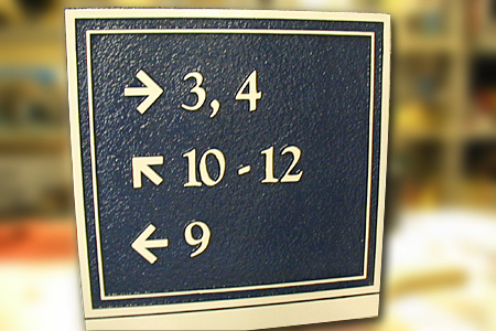 Apartment Directional Signage