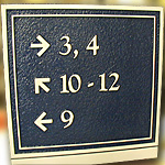 Apartment Directional Sign