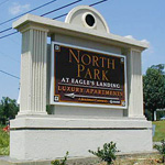 North Park at Eagles Landing Custom Sign Monument and Sandblasted Sign