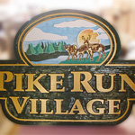 Pike Run Village Wood Entrace Sign
