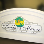 Kirkland Manor at Nautical Point Vacation Community Standard Sign Monument and Panel