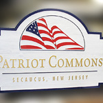 Patriot Commons Seacaucus, New Jersey Entrance Sign