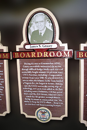USCG HDU Sandblasted Board Room Display