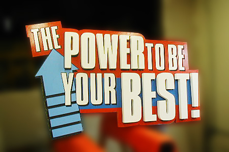 The Power to be Your Best Seminar Dimensional Back Drop