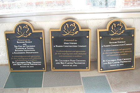 HDU Sandblasted Dedication Plaques with Acrylic Faces
