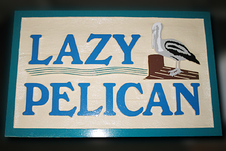 Lazy Pelican Nautical Marker