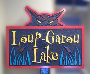 Loup-Garóu Lake HDU Sandstone Nautical Marker