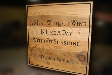 French Wine Rustic Sign