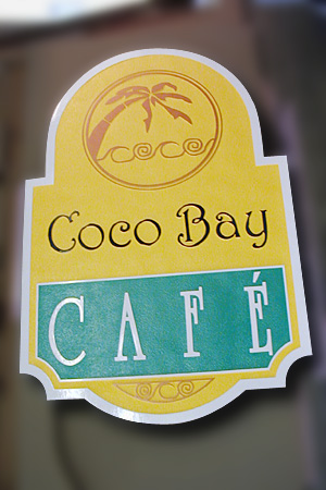 Coco Bay Cafe HDU Double Sided Sign