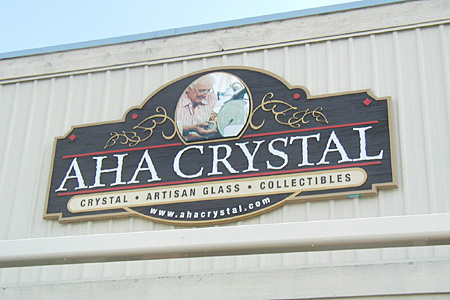 AHA Crystal Wood Grain HDU Building Front Sign