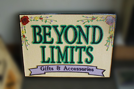 Beyond Limits Gifts and Accessories HDU Sandstone Sign