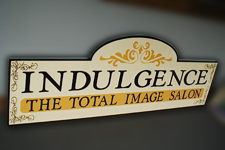 Indulgence Total Image Salon HDU Sandstone Sign