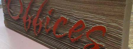 sandblasted redwood cedar signs