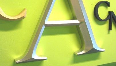 cnc routed prismatic sign letters