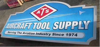 business sign aircraft tool supply