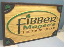 business sign fibber magee's