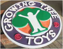 business sign growing tree toys