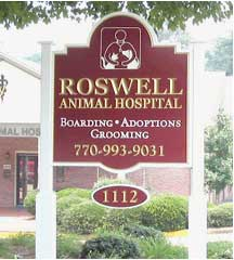 business sign roswell animal hospital