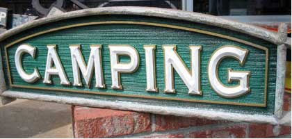 carved sign bass pro camping