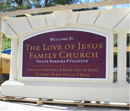 church signs love of jesus