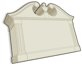 standard stucco sign monument model 15