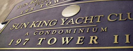 custom sandblasted sign for yacht club